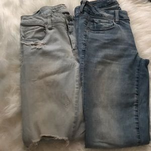 Two pairs American Eagle skinny jeans